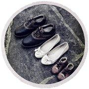 Shoes Round Beach Towel by Joana Kruse