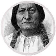 Sitting Bull (1834-1890) Round Beach Towel