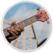 5-string Bass Round Beach Towel