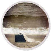 Suitcase Round Beach Towel