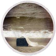 Suitcase Round Beach Towel by Joana Kruse