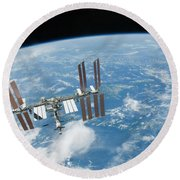 The International Space Station Round Beach Towel
