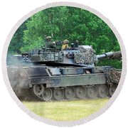 The Leopard 1a5 Main Battle Tank Round Beach Towel
