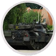 The Leopard 1a5 Mbt Of The Belgian Army Round Beach Towel