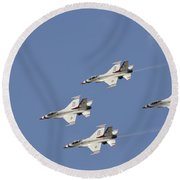 The U.s. Air Force Thunderbirds Fly Round Beach Towel