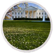 The White House Round Beach Towel
