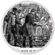Uncle Toms Cabin Round Beach Towel