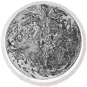 Verne: Earth To Moon Round Beach Towel