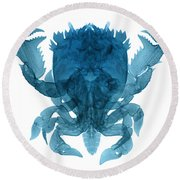 X-ray Of Deep Water Crab Round Beach Towel