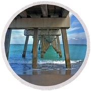 50- Juno Pier Round Beach Towel