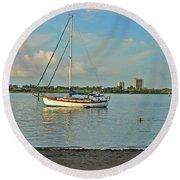 51- Phil Foster Park-singer Island Round Beach Towel