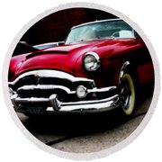 53 Packard Caribbean Convertible Coupe Round Beach Towel
