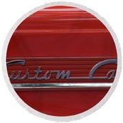 56 Ford F100 Custom Cab Round Beach Towel