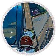 57 Chevy Bel Air 2 Round Beach Towel