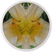 Angelic Lily Round Beach Towel