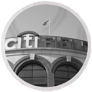 Citi Field - New York Mets Round Beach Towel by Frank Romeo
