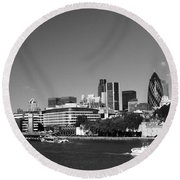 City Of London Skyline Round Beach Towel