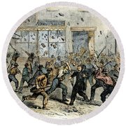 Civil War: Draft Riots Round Beach Towel