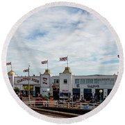 Clacton Pier Round Beach Towel