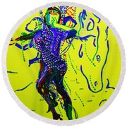 Dinka Dance - South Sudan Round Beach Towel