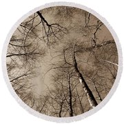 Epping Forest Trees Round Beach Towel