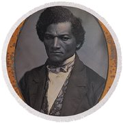Frederick Douglass, African-american Round Beach Towel