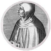 Girolamo Savonarola Round Beach Towel