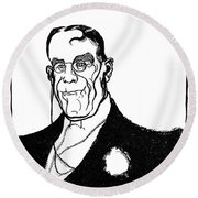 James Whitcomb Riley Round Beach Towel