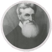 John Brown, American Abolitionist Round Beach Towel