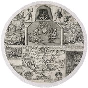 John Smith (1580-1631) Round Beach Towel