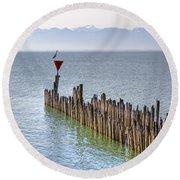 Lake Constance Round Beach Towel