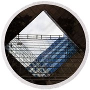 London Southbank Abstract Round Beach Towel