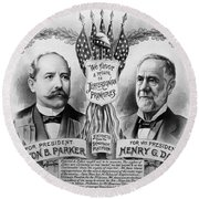Presidential Campaign, 1904 Round Beach Towel