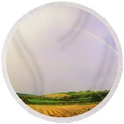 Rock Of Cashel, Co Tipperary, Ireland Round Beach Towel by The Irish Image Collection