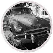 Route 66 Classic Car Round Beach Towel