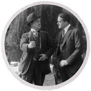 Silent Still: Two Men Round Beach Towel