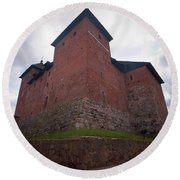 The Castle Of Tavastehus Round Beach Towel