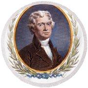 Thomas Jefferson (1743-1826): Round Beach Towel