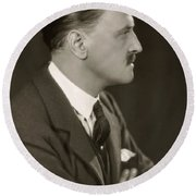 William Somerset Maugham Round Beach Towel
