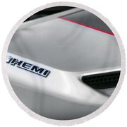 6.1 Hemi - 2011 Dodge Challenger Srt8 Round Beach Towel
