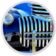 64 Chevy Grill Round Beach Towel