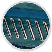 65 Plymouth Satellite Accent-8509 Round Beach Towel