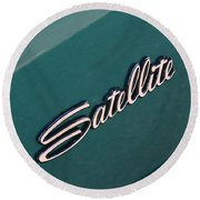 65 Plymouth Satellite Logo-8502 Round Beach Towel
