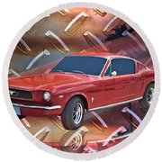 66 Fastback Round Beach Towel