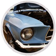 67 Mustang Hcs Round Beach Towel