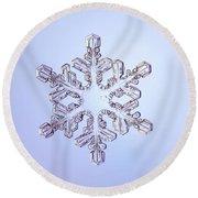 Snowflake Round Beach Towel