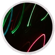 Abstract Motion Lights Round Beach Towel