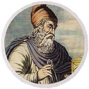 Archimedes (287?-212 B.c.) Round Beach Towel