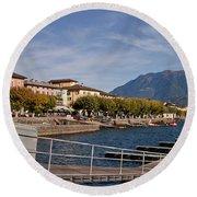 Ascona - Ticino Round Beach Towel by Joana Kruse