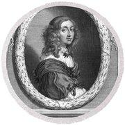 Christina (1626-1689) Round Beach Towel